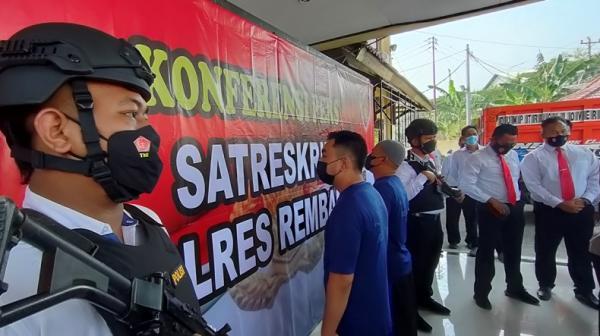 Polres Rembang Bongkar Kasus Kepemilikan Senpi Rakitan, 2 Orang Ditangkap