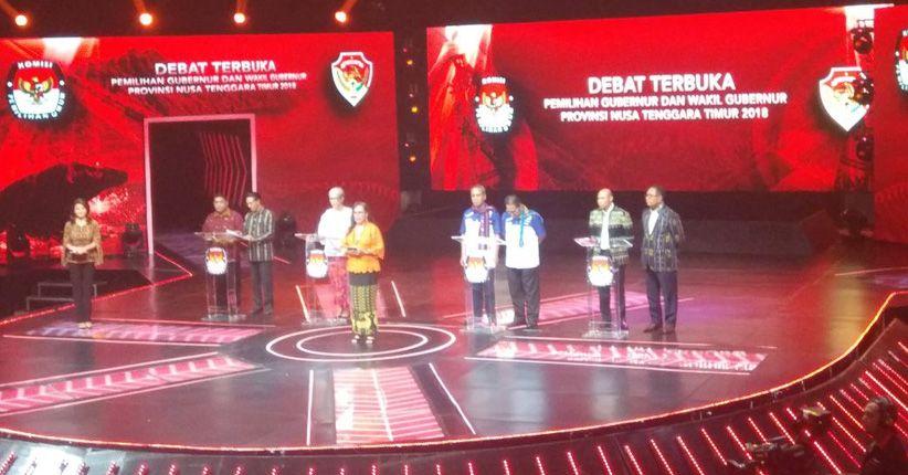 Adu Program di Debat Perdana, Cagub-Cawagub Komitmen Bangun NTT