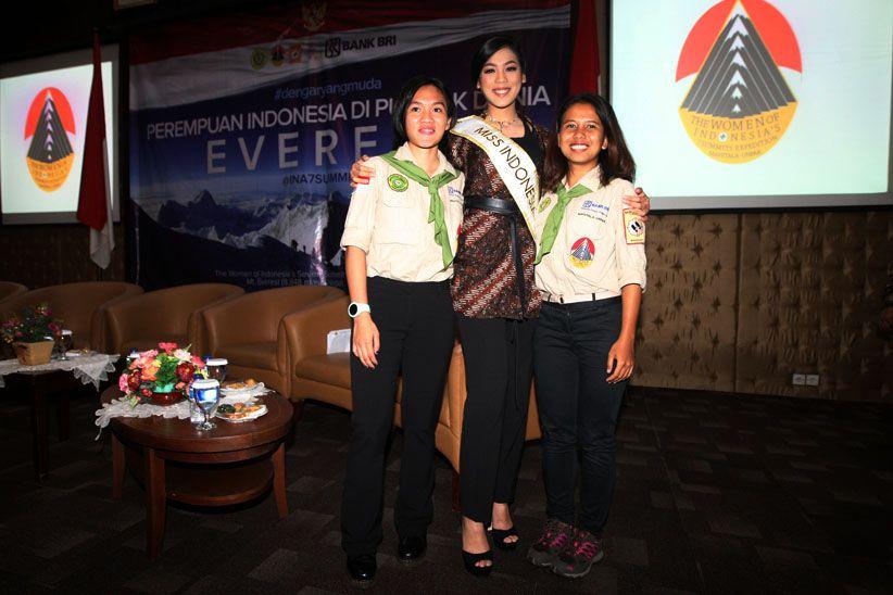 Miss Indonesia Hadiri Pelepasan 2 Pendaki Perempuan ke Everest