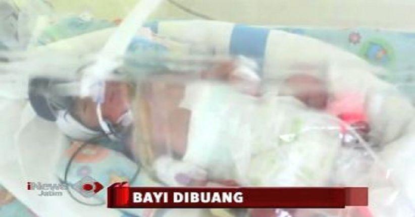 Sungguh Tega, Orang Tua di Gresik Buang Bayi Baru Lahir di Tepi Jalan
