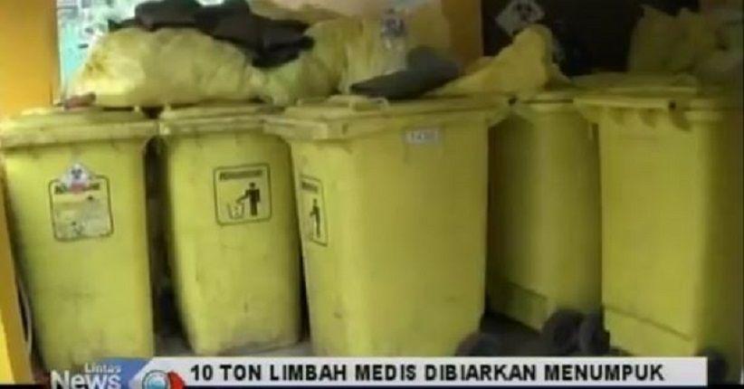 10 Ton Limbah Medis Berserakan di TPS RSUD Cianjur