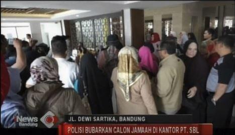 Polisi Bubarkan Ratusan Calon Jamaah Umrah di Kantor PT SBL