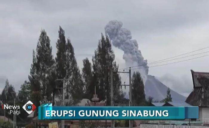 Gunung Sinabung Erupsi, Ribuan Hektare Lahan Petani Gagal Panen