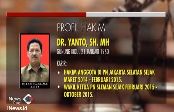Hakim Yanto Pernah Vonis Pembobol Bank 5 Tahun Penjara