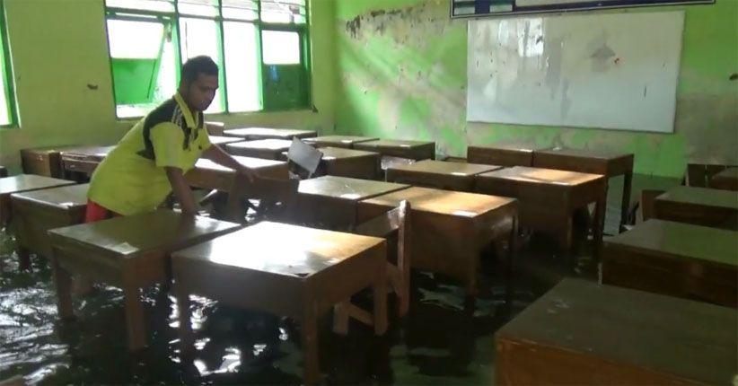 Banjir Rob Masih Kepung Pekalongan, Ulangan Kenaikan Kelas Ditunda