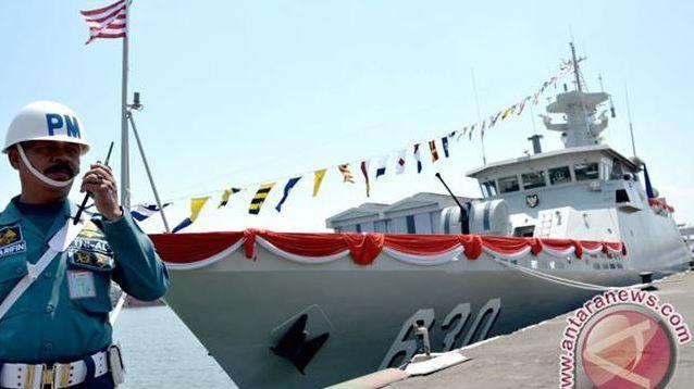 KRI Halasan-630 Tangkap Kapal Ikan Asing Ilegal di Laut Natuna
