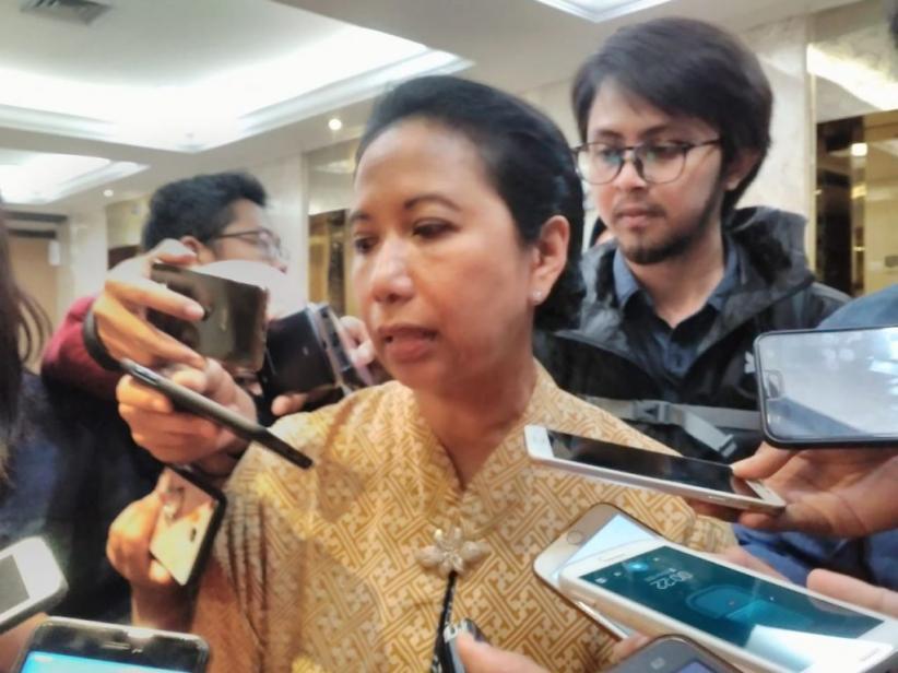 Menteri Rini Dorong BUMN Bangun Rumah Sementara di Pandeglang