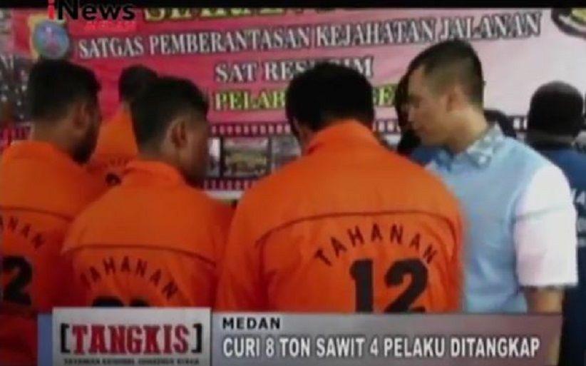 Curi 8 Ton Kelapa Sawit PTPN II Deliserdang, 4 Pengangguran Ditangkap