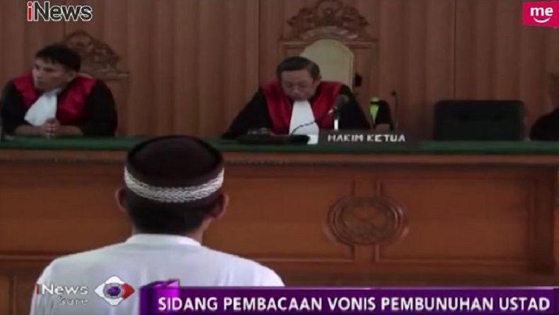 Pembunuh Ustaz di Bandung Divonis 7 Tahun Penjara