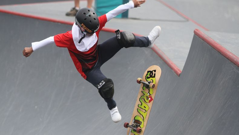 Skateboarder Putri Indonesia Bunga Nyimas Sumbangkan Perunggu ke-33