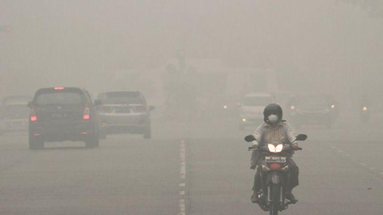 Kabut Asap Tebal akibat Karhutla, Jarak Pandang di Kota Dumai 2 Km