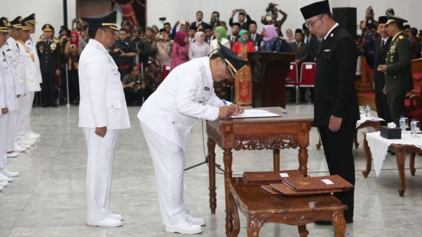 Ini Pesan Ridwan Kamil kepada 6 Kepala Daerah yang Baru Dilantik