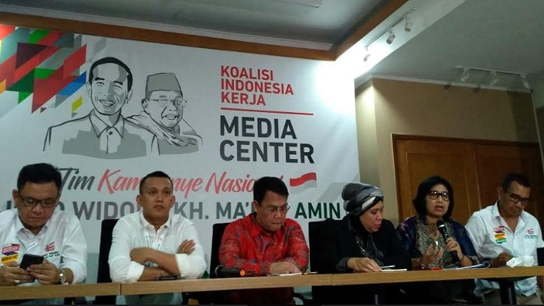 TKN Jokowi-Ma'ruf: Visi Misi Prabowo-Sandi Pendek, Tak Lengkap