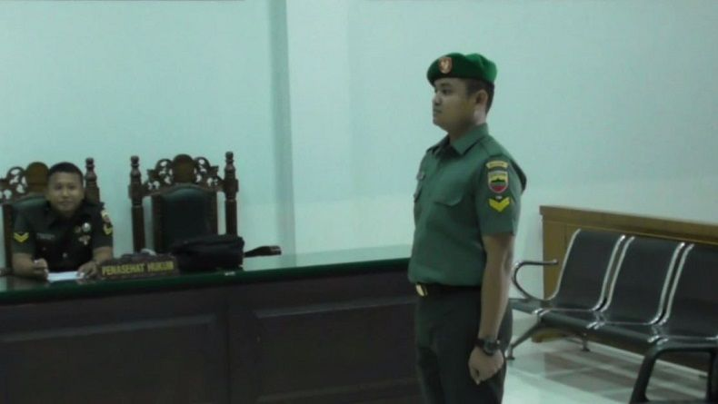 Oknum Prajurit TNI Divonis 8 Bulan Penjara karena Aniaya Mantan Pacar