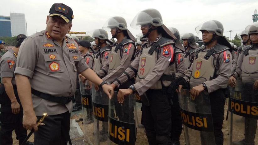 Polda Jatim Pertebal Pengamanan Pemungutan Suara Ulang di Sampang