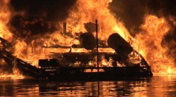 Kapal Angkut Elpiji Meledak di Sungai Mahakam, 3 Orang Terluka