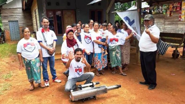 3 Caleg Perindo di Paser Kaltim Fogging 400-an Rumah Warga dan Sekolahan