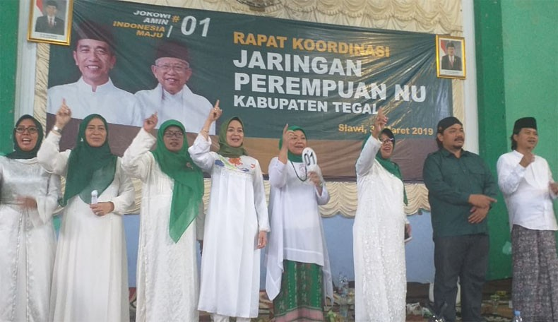 Rakor JPNU Slawi, Ida: Ketuk Pintu, Ketuk Hatinya Pilih Jokowi-Ma'ruf