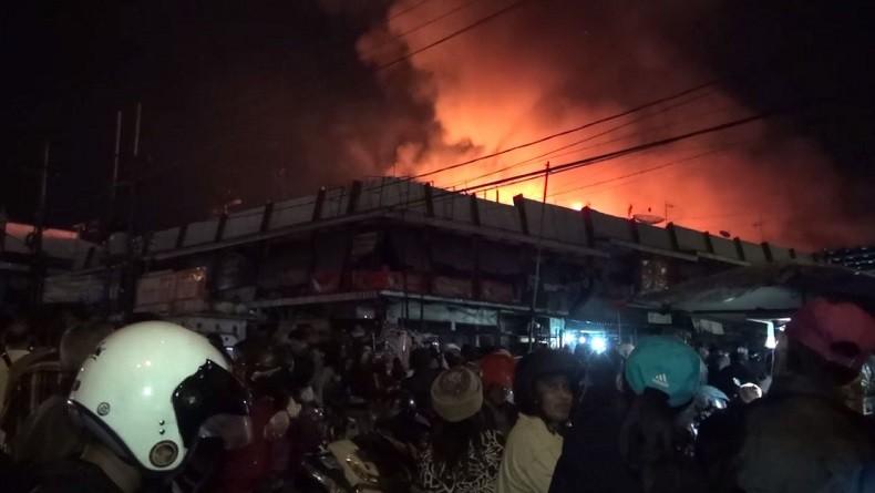 Pasar Lawang Malang Terbakar, Lebih dari 500 Kios Hangus Dilalap Api