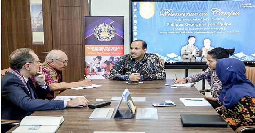 Mahasiswa Pariwisata Lombok Belajar Bahasa Asing dengan Kedubes Prancis