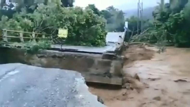Jembatan Dampala di Morowali Hanyut, Jalur Trans Sulawesi Sulteng-Sultra Putus