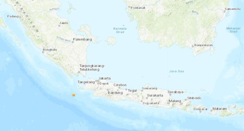 Badan Geologi AS Sebut Gempa di Banten Bermagnitudo 6,8