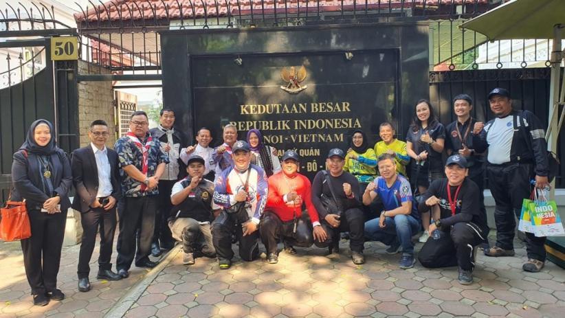 Perkuat Persahabatan Indonesia-Vietnam, 11 Bikers Tempuh Ribuan Kilometer