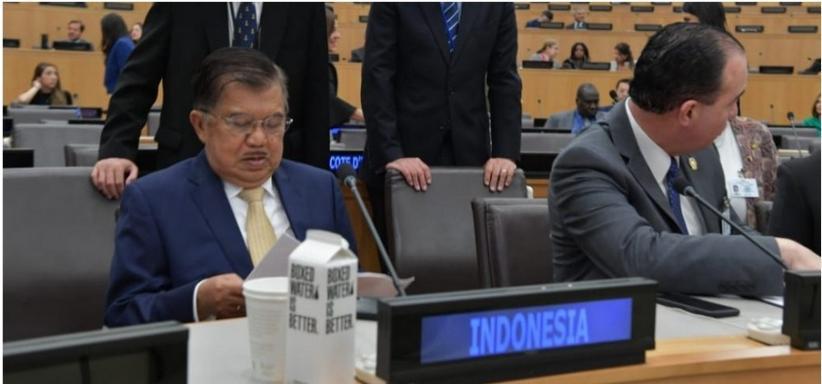 Di Markas Besar PBB, Wapres JK Soroti Harga Kopi Dunia yang Anjlok