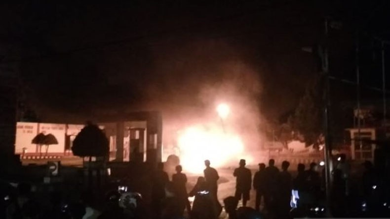 Kebakaran SPBU di Agam Diduga akibat Tangki Modifikasi Mobil Carry
