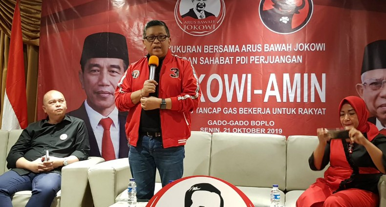 Syukuran Relawan Arus Bawah Jokowi, PDIP Ajak Kawal Jokowi-Ma'ruf