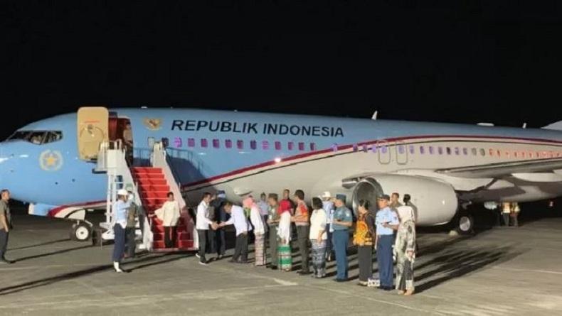 Presiden Jokowi Tiba di Kota Ambon, Besok Kunjungi Para Pengungsi Korban Gempa Bumi