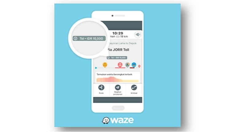 Pengguna Waze di Indonesia Kini Bisa Melihat Info Tarif Jalan Tol