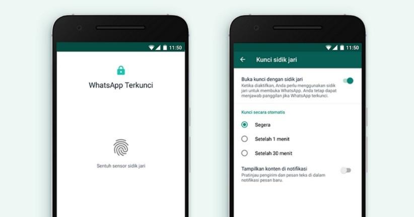 Pengguna Whatsapp Android Kini Bisa Kunci Aplikasi Pakai Sidik Jari