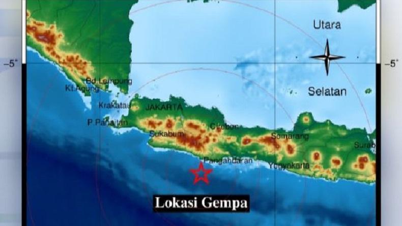 Gempa Hari Ini Bermagnitudo 4 9 Guncang Pangandaran Bmkg Tidak Berpotensi Tsunami Bagian 1