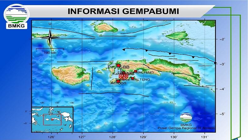 BMKG: Gempa Bumi M5,1 yang Guncang Ambon bagian dari Gempa Susulan sejak 26 September
