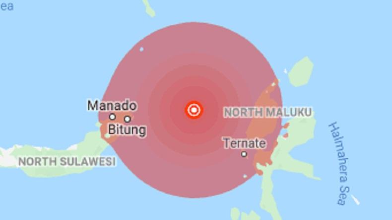 74 Gempa Susulan, Ini Deretan Guncangan Bermagnitudo Kuat Sulut dan Maluku Utara Hari Ini