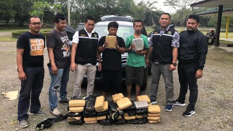 Selundupkan 58 Kg Ganja dari Aceh ke Bandung, 2 Warga Jabar Ditangkap Polres Langkat