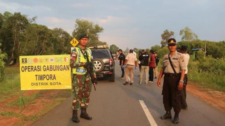 Operasi Timpora Imigrasi dan Satgas Yonif MR 411 di Perbatasan RI-PNG, 3 Orang Diamankan