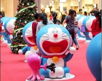 Keseruan Rayakan Natal dengan Doraemon and Friends di PIK Avenue