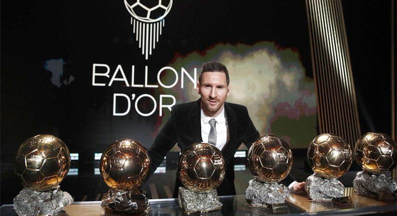 Lionel Messi Raih Trofi Ballon d'Or Ke-6
