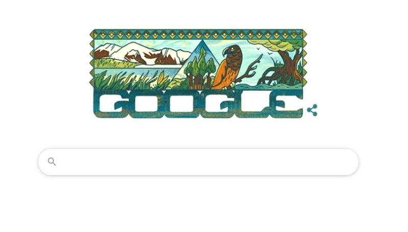 Google Doodle Hari Ini Tampilkan Taman Nasional Lorentz Papua, Rumah Beo Pesquet