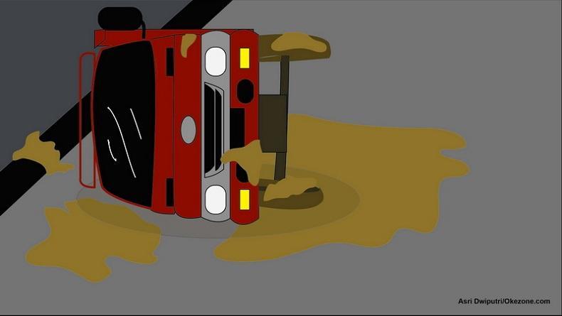 Bus Pengangkut Peserta Reuni SMA Terbalik, 13 Orang Tewas