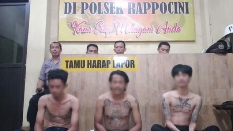 Polisi Tangkap 3 Pelaku Pembacokan Sales HP di Makassar, 1 Masih Buron