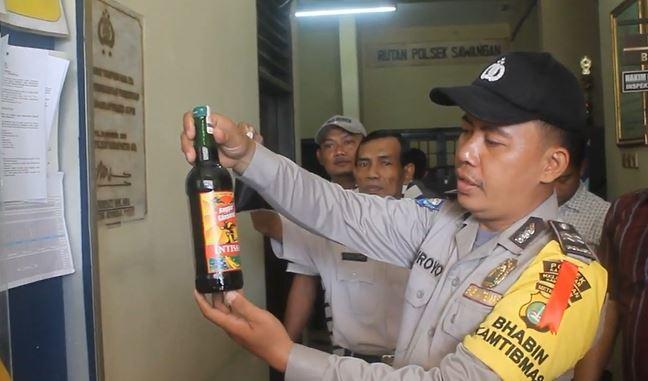 Akan Dijual saat Malam Tahun Baru, Puluhan Botol Miras di Sawangan Depok Disita