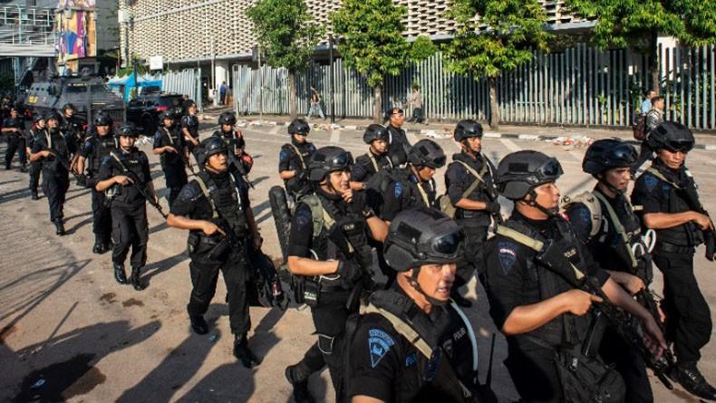 Pengamanan Sekitar Istana Negara Diperketat, Mobil Water Cannon Disiagakan