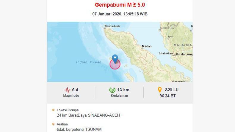 Gempa Aceh Magnitudo 6 4 Kantor Bupati Dan Rumah Warga Di Simeulue Rusak Bagian 1