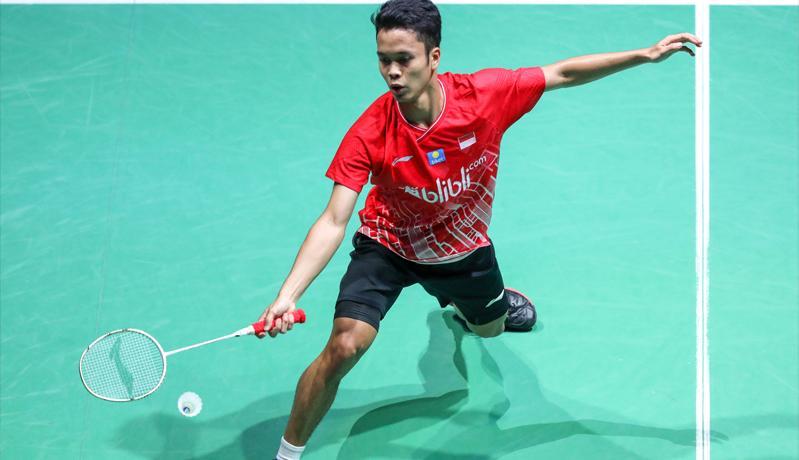 Anthony Ginting Menang Mudah, Indonesia Ungguli Filipina 1-0