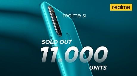 Dibanderol Rp1 Jutaan, Ponsel Realme 5i Terjual 11.000 Unit di 2 Flash Sale