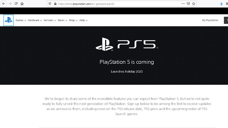 Muncul di Website Sony: Playstation 5 is Coming