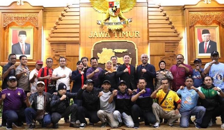 Piala Gubernur Jatim,Khofifah Kumpulkan Manajemen Klub dan Perwakilan Suporter